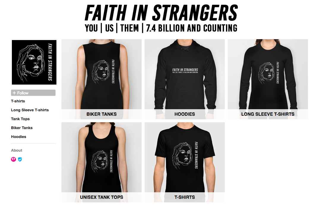 Faith in Strangers Society6